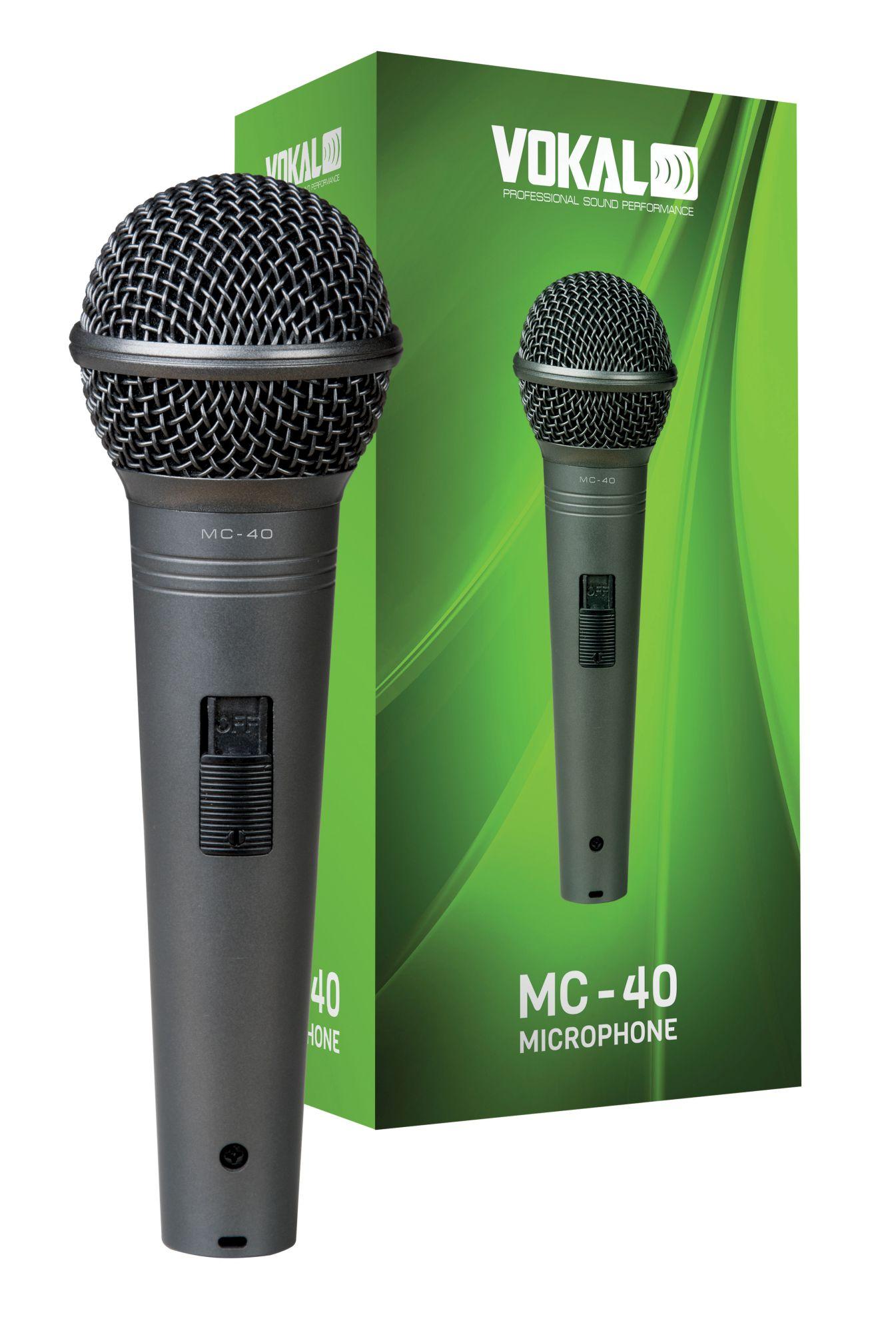 Microfone Dinâmico Vokal Mc-40