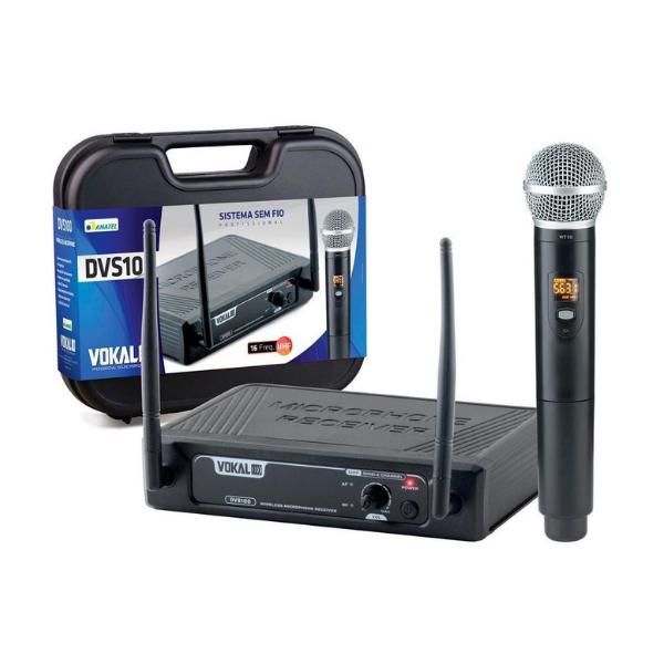 Microfone S/Fio Vokal Dvs100 Mão