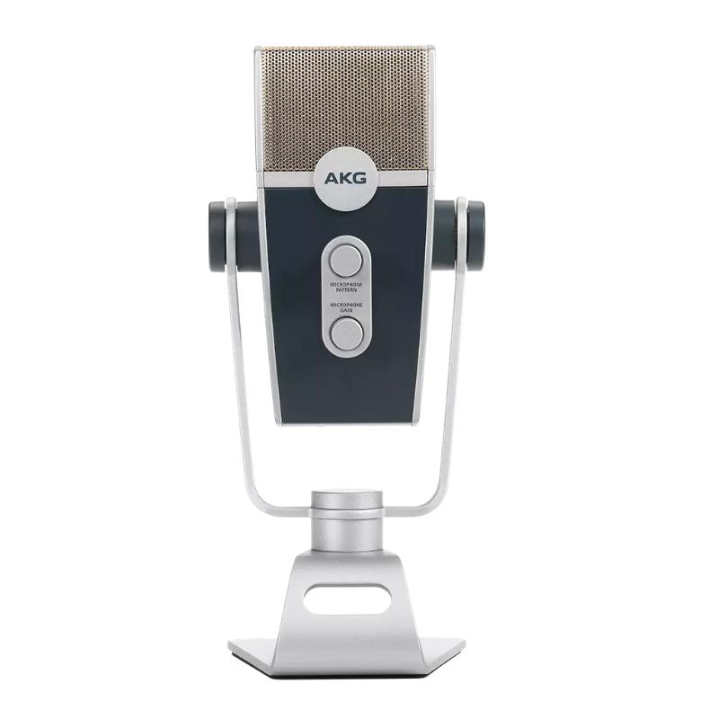 Microfone Ultra HD USB AKG Lyra para Podcast, vídeos, live streaming ou gravação.