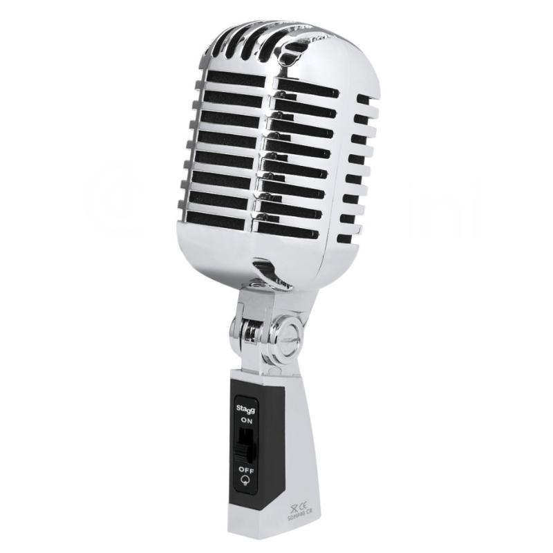 Microfone vocal Stagg Vintage Dinâmico