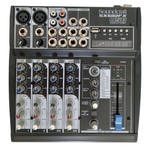 MIXER SX602FX-USB SOUNDCRAFT