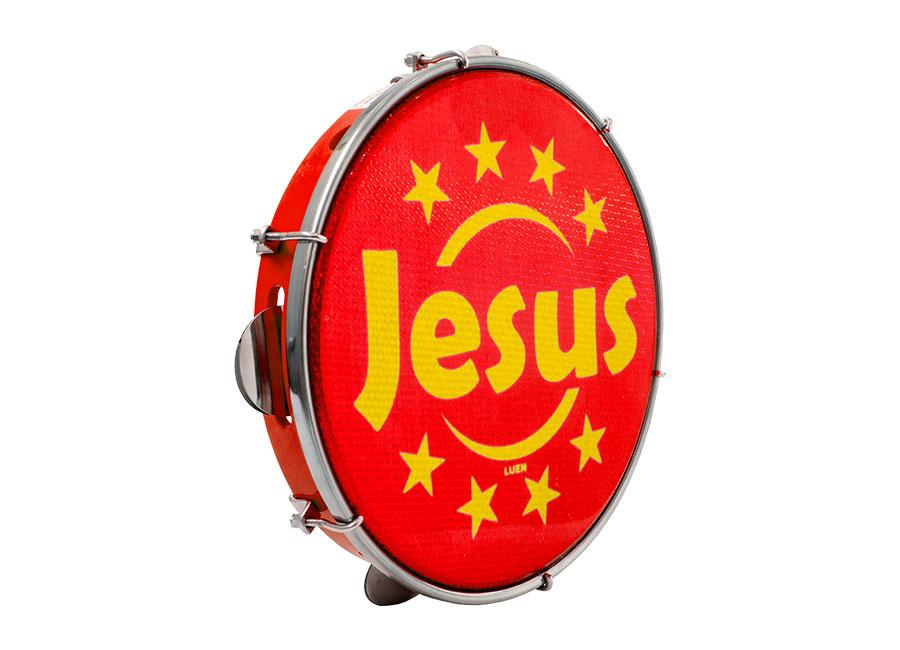 "Pandeiro 10""Luen Tematico Jesus"