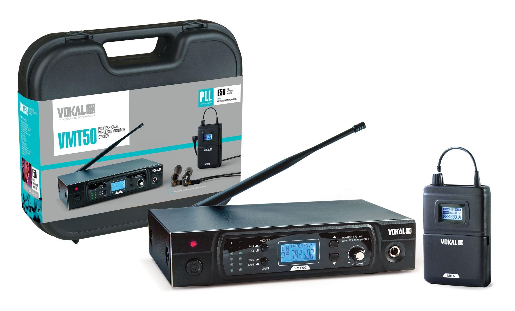 Sistema Monitor S/Fio Vokal Vmt50