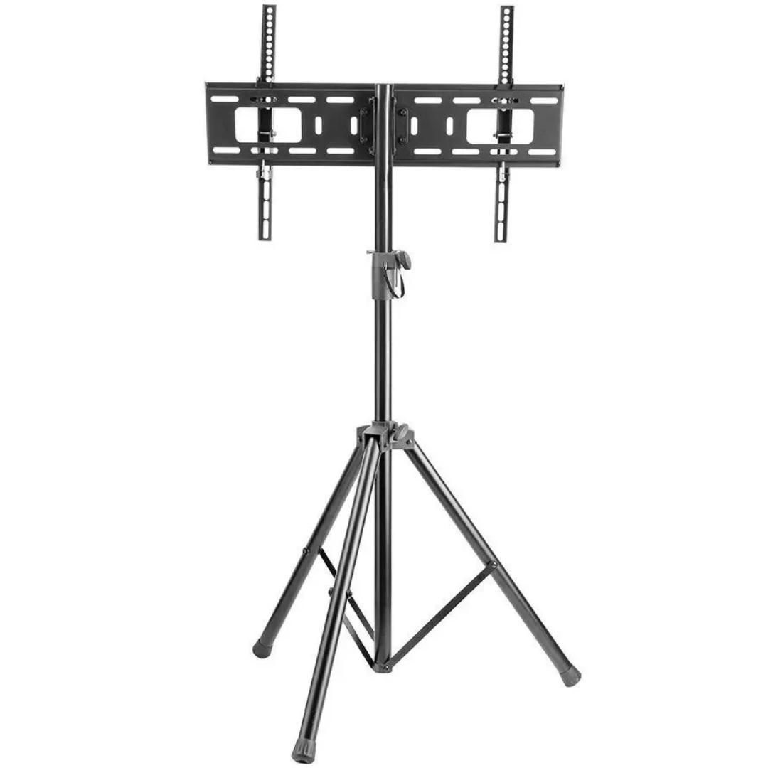 Suporte Tv Lcd Rack Tripe com ajuste de altura para TVs de 32 a 70 Uso Auditórios, Apresentações