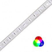 Fita LED eklart Plug&Play 8W/m chip 5050 RGB + CONTROLE- IP65
