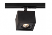 PLAFON B LED 7W 3000K – BIVOLT 127V / 220V  – 125 X 125 X 114MM C/ ADAPTADOR TRILHO