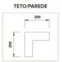 CONECTOR L TETO/PAREDE 200X200MM para Perfil 23mm ILU-ME8