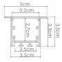 PERFIL EMBUTIDO 50x35x2000 mm ILU-GE42 (2metros)