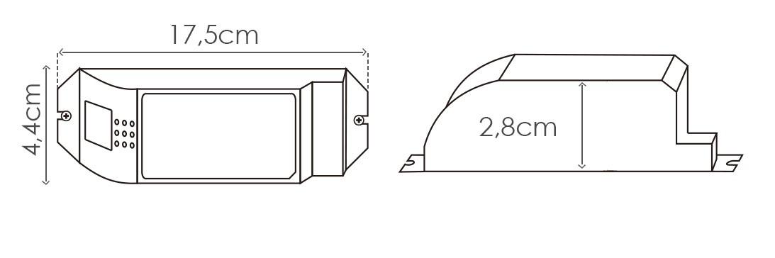 Amplificador para fita RGB - 12V~24V / 180W~360W