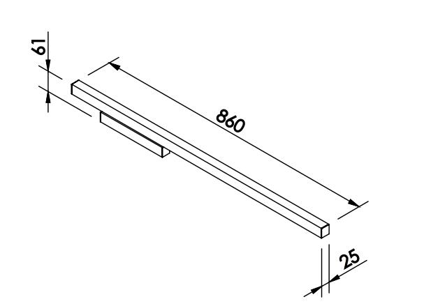 ARANDELA FIT LED 24W 127/220V 25X61X860MM