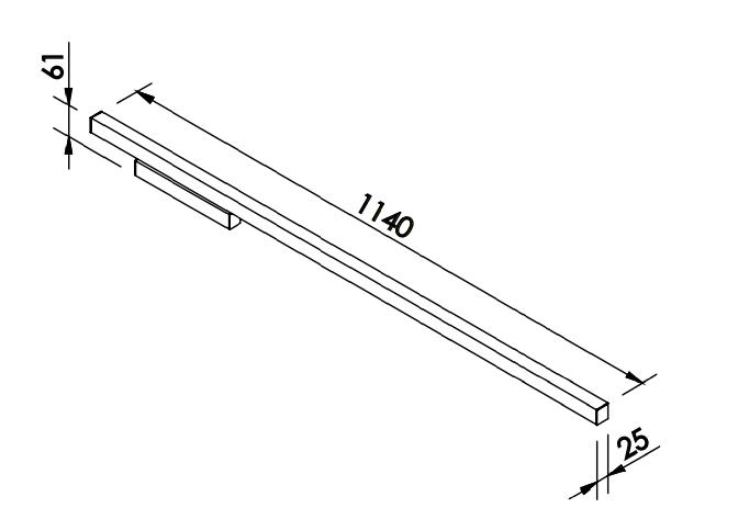ARANDELA FIT LED 32W 127/220V 25X61X1140MM
