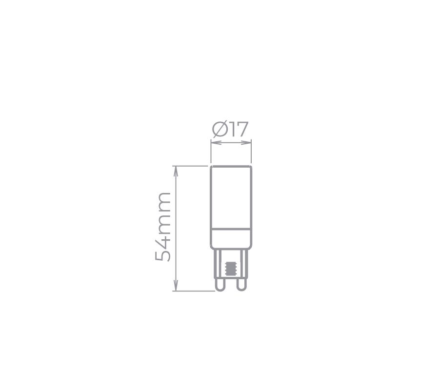 Bipino G9 Dim. 3,5W 270° Stella