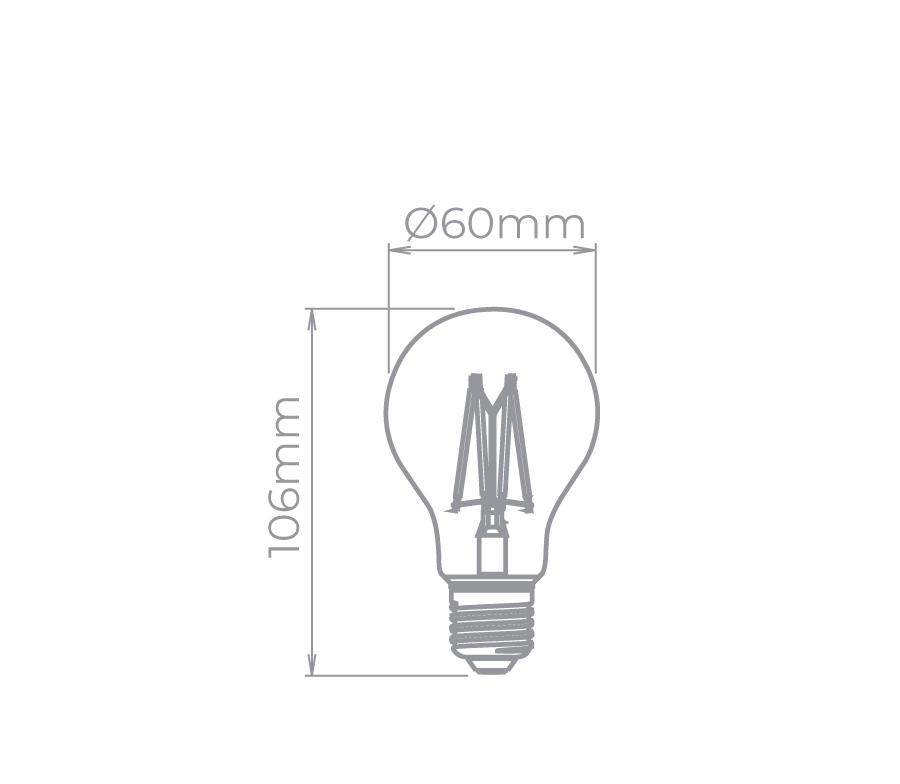 Bulbo Filamento Vintage Dim. 4,5W 300° Stella