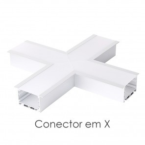 Conector em X do perfil ILU-GE42