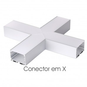 Conector em X do perfil ILU-PS51