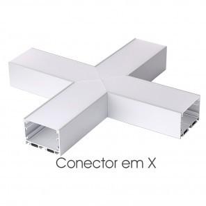 Conector em X do perfil ILU-PS52