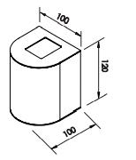 Arandela Oval – 220V LED 2700K – 100 x 100 x 120mm