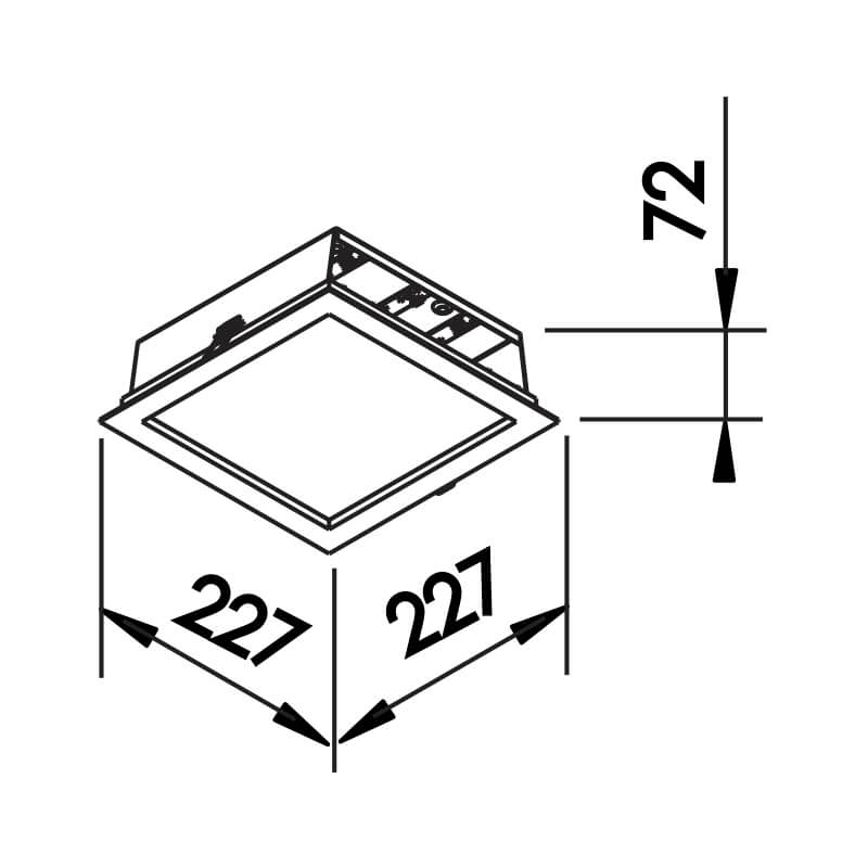 EMBUTIDO F  II 12,6W  127/220V 227X227X72MM