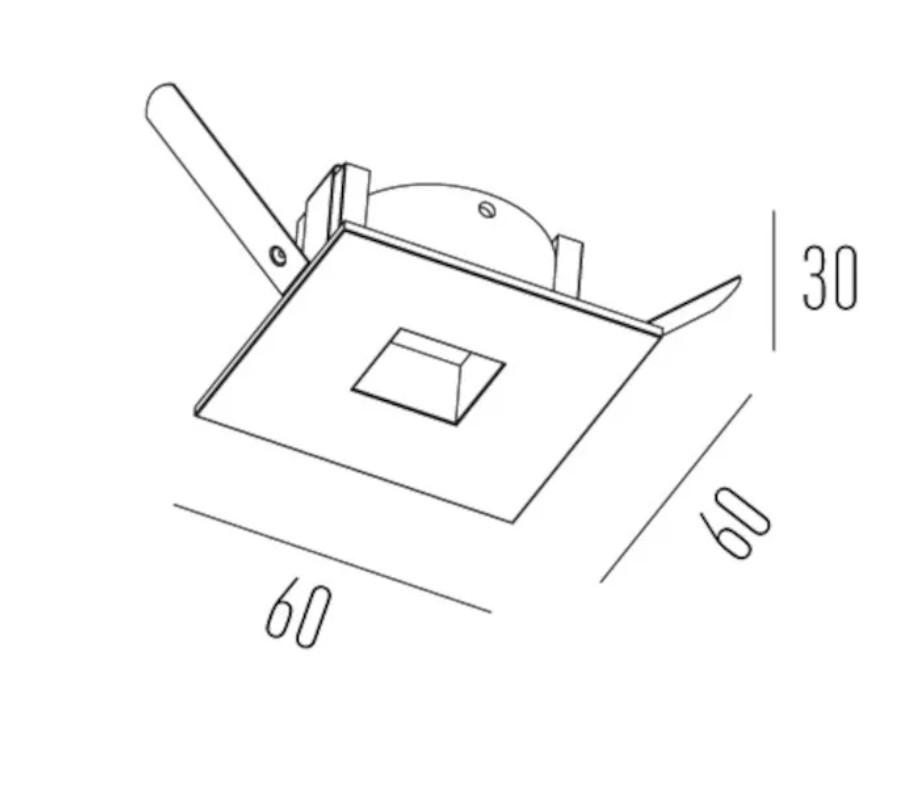 Embutir Teto para mini dicroica quadrado