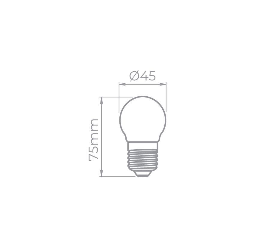 Filamento Milky Mini Bulbo 2W 300° Stella