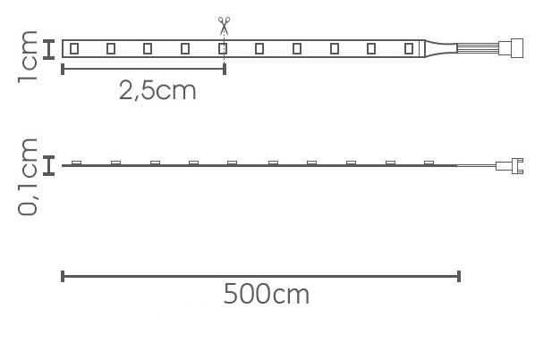 Fita LED eklart 10W/m chip 2835 120Leds/m – IP65