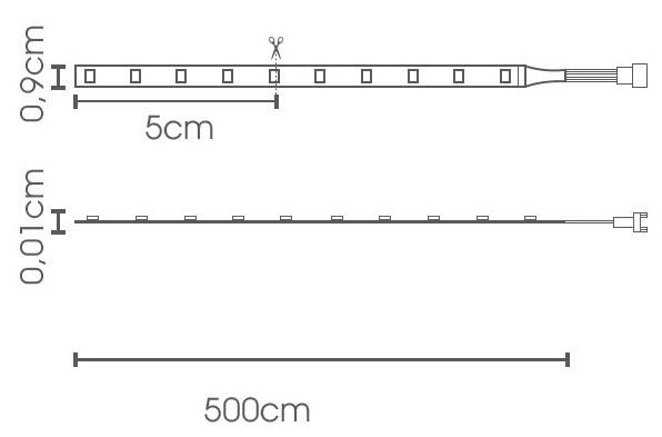 Fita LED eklart 5W/m chip 2835 60Leds/m – IP65