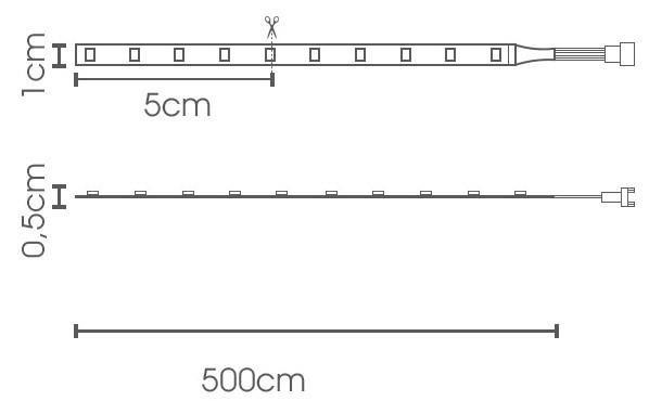 Fita LED eklart 5W/m chip 2835 60Leds/m – IP68