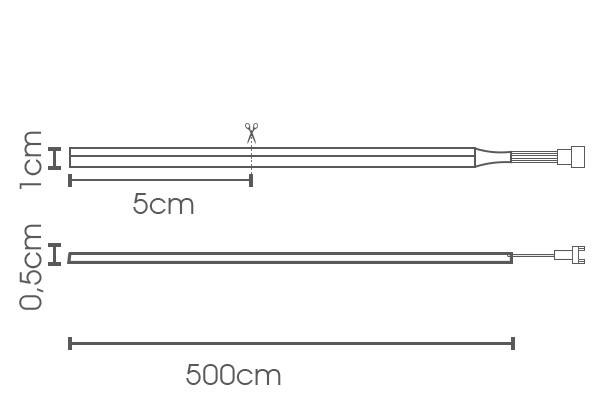 Fita LED eklart NEON 10W/m chip 2835 140Leds/m IP66