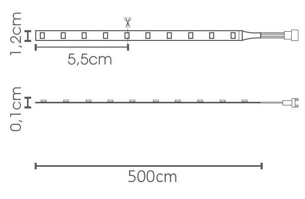 "Fita LED eklart ""Plus"" 26W/m chip 2835 126Leds/m – IP20"