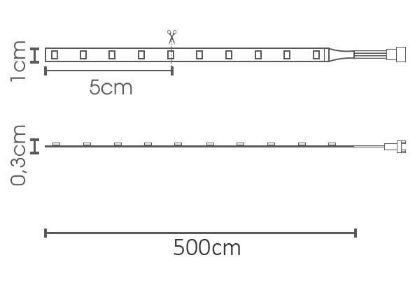 Fita LED eklart 10W/m chip 5050 60Leds/m – IP20 - TUNABLE WHITE