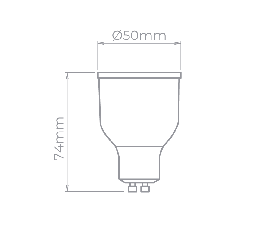 GU10 Dicroica RGBW 5W 40° Stella