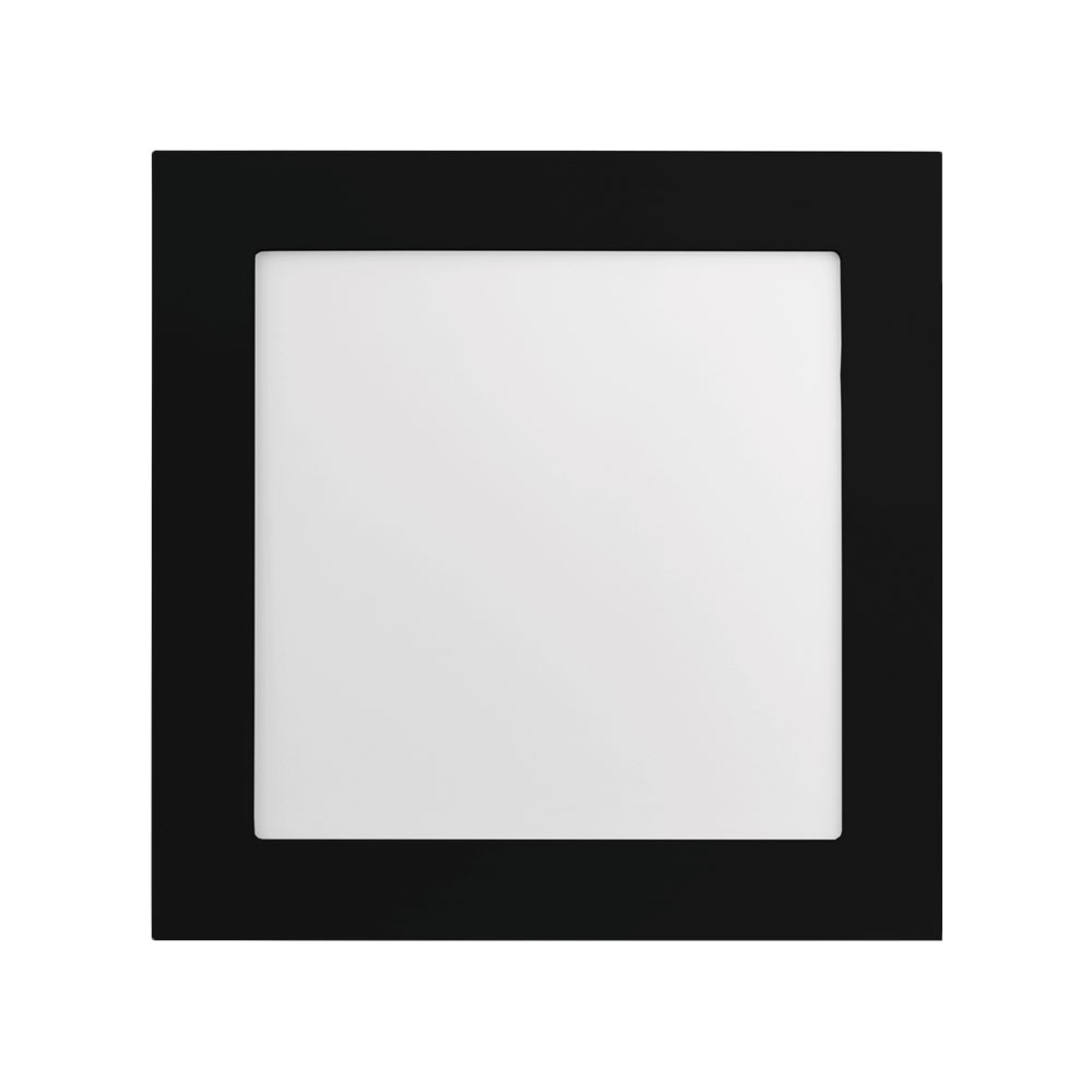 LUMINÁRIA QUADRADA PARA EMBUTIR JET BLACK 120° BIVOLT