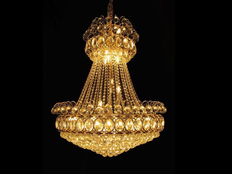 LUSTRE DE CRISTAL IMPERIAL GOLD