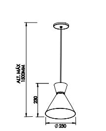 Pendente Bambola CFL E27 – Bivolt 127V / 220V – 230 x 230 x 230mm
