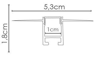 Perfil embutido NOFRAME ILU-EB110  ( POR METRO)
