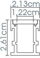 Perfil embutido de solo ILU-SS37  ( POR METRO)