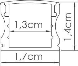 PERFIL SOBREPOR ILU-MS9  ( POR METRO)