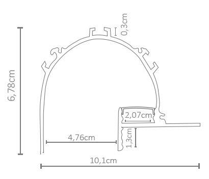 Perfil embutido NOFRAME GAP ILU-SAI109  ( POR METRO)