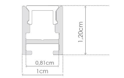PERFIL PENDENTE ultra slim ILU-P50  ( POR METRO)