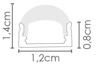 PERFIL SOBREPOR ILU-MS15 ANGULO FECHADO 30° ( POR METRO)