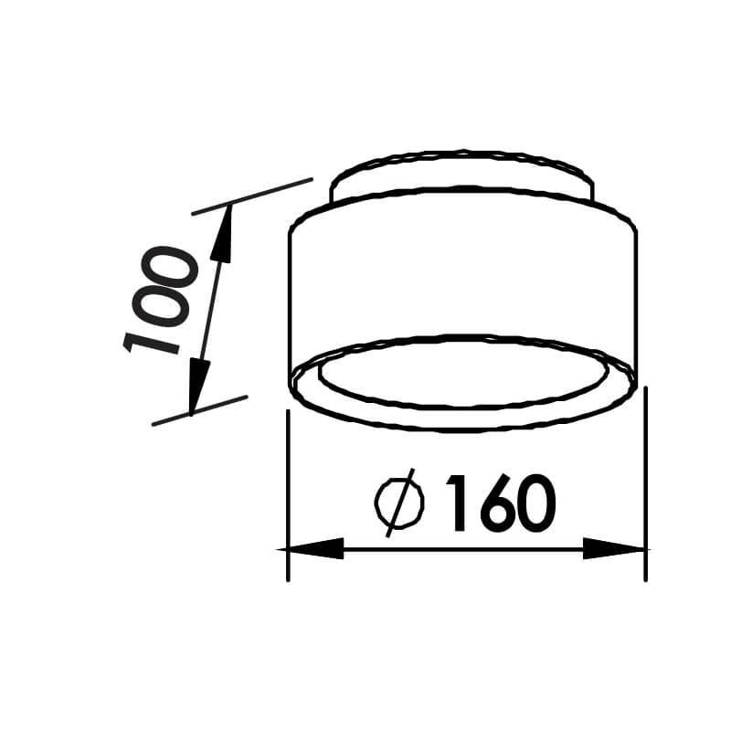 PLAFON  2 CFL 11W DIAM. 160X105MM