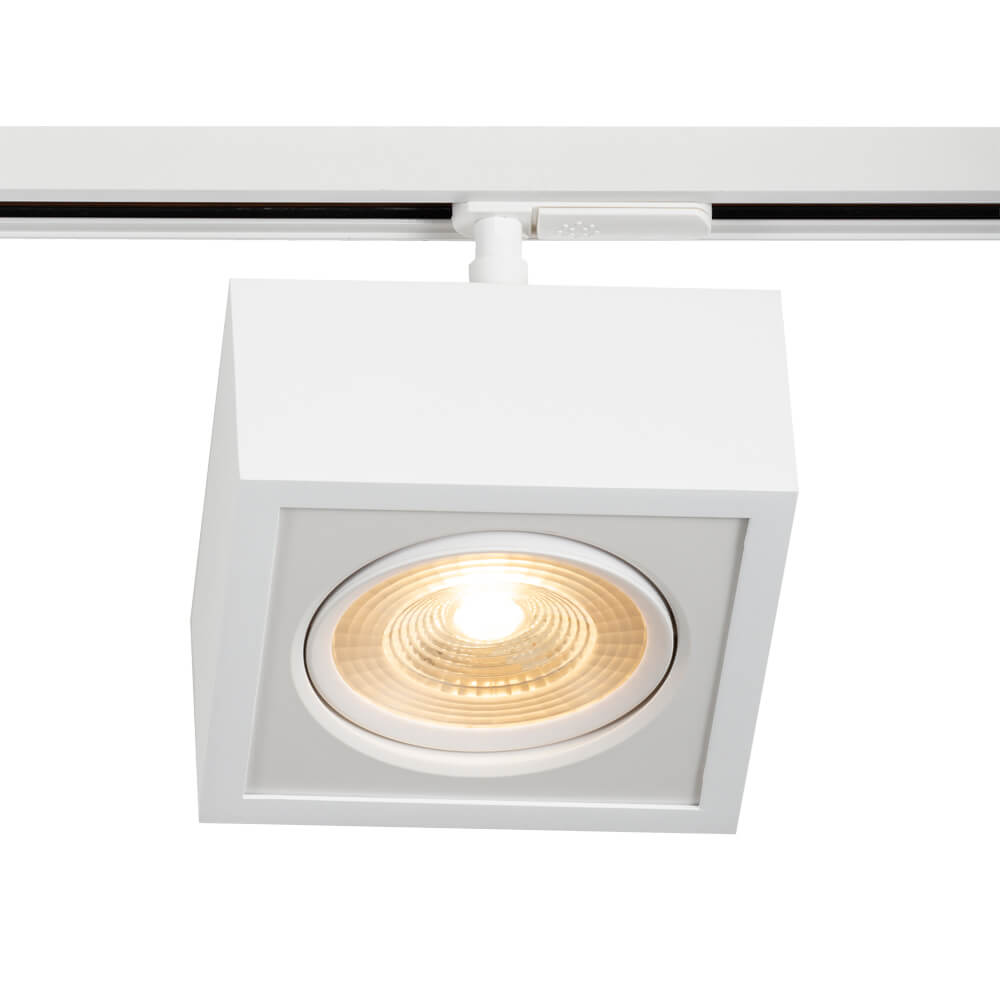 PLAFON B LED 12W 3000K – BIVOLT 127V / 220V  – 150 X 150 X 114MM C/ ADAPTADOR TRILHO