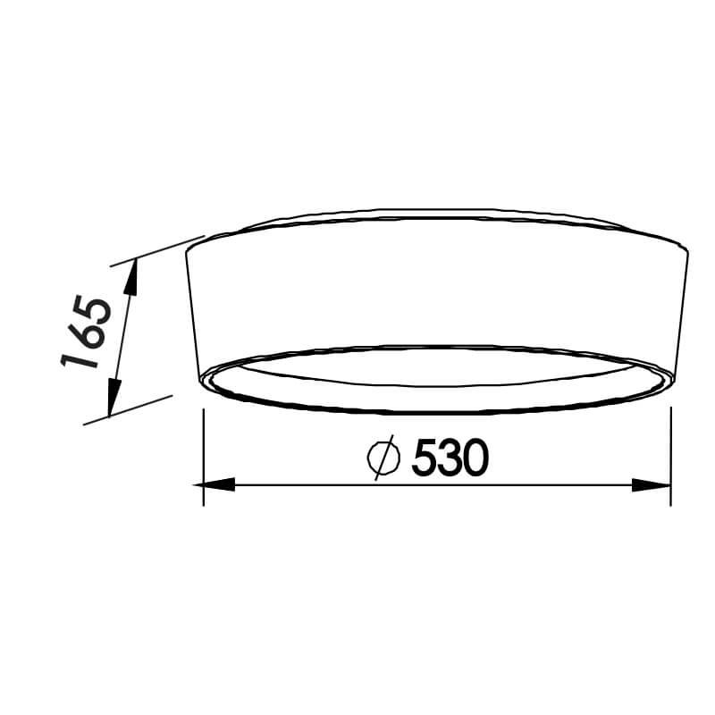 PLAFON CIRCLE CFL E27 – BIVOLT 127V / 220V – 530 X 530 X 165MM
