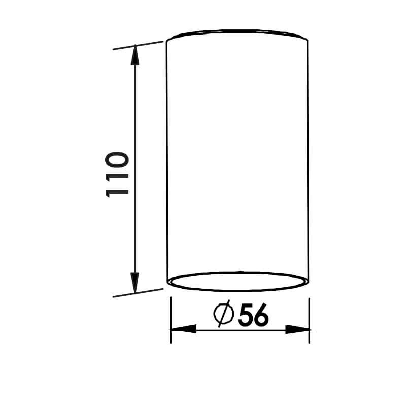 PLAFON L 1 PAR16 50W DIAM. 56X110MM