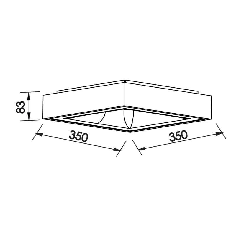 PLAFON NM LED 25,2W 127/220V 350X350X83MM