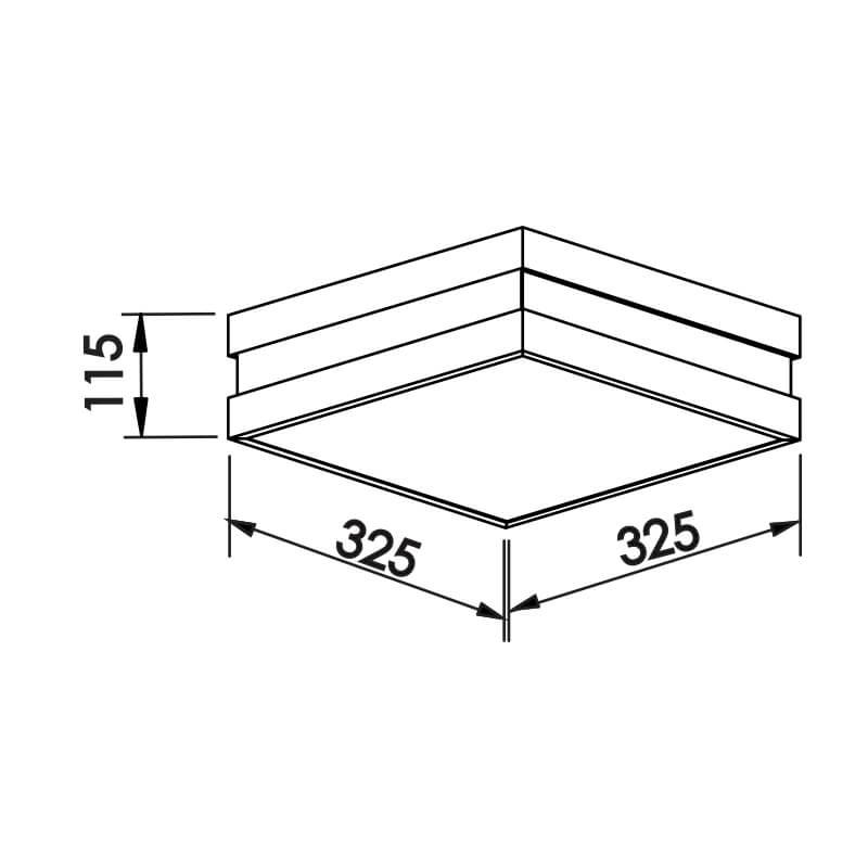 PLAFON NQ 4 CFL 25W 325X325X115MM