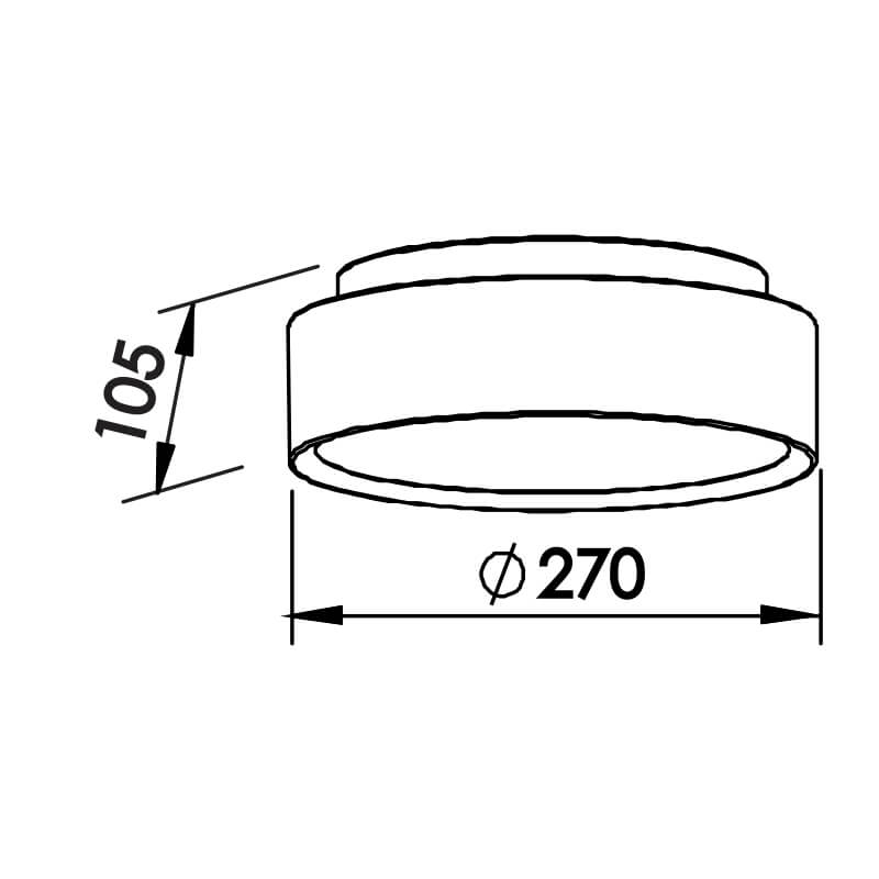 PLAFON R 2 CFL 25W DIAM. 270X105MM