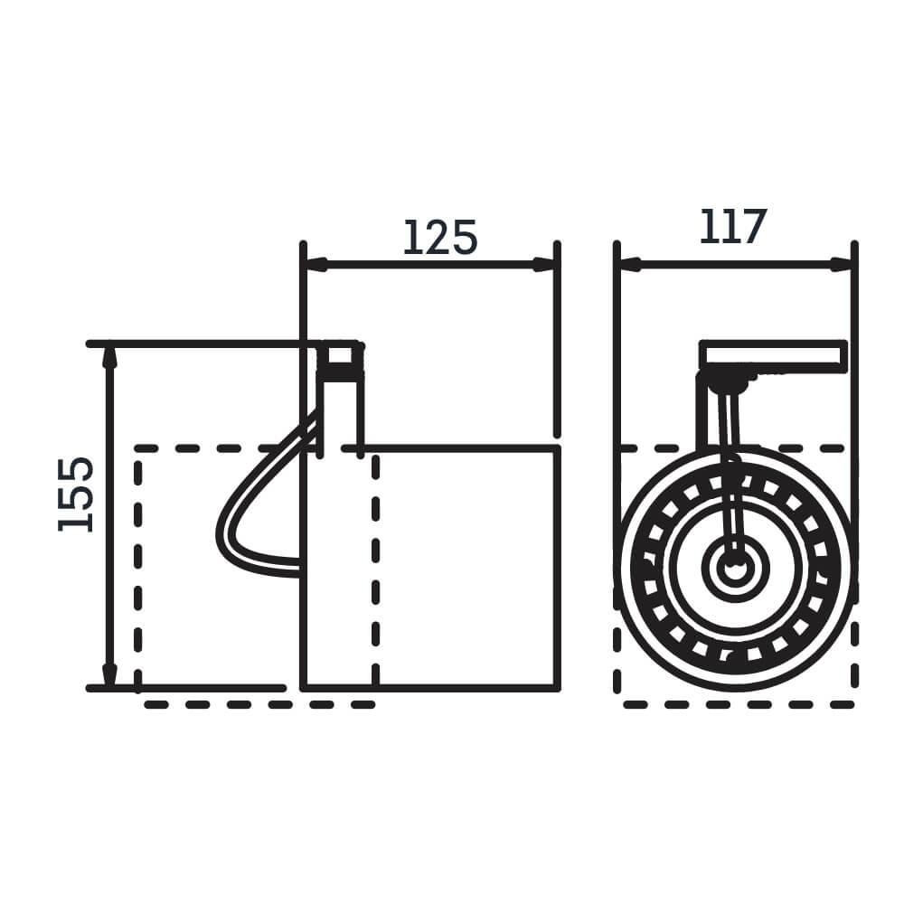 SPOT LISSE II COM ADAPTADOR 1 AR111 LED 125X117X155MM