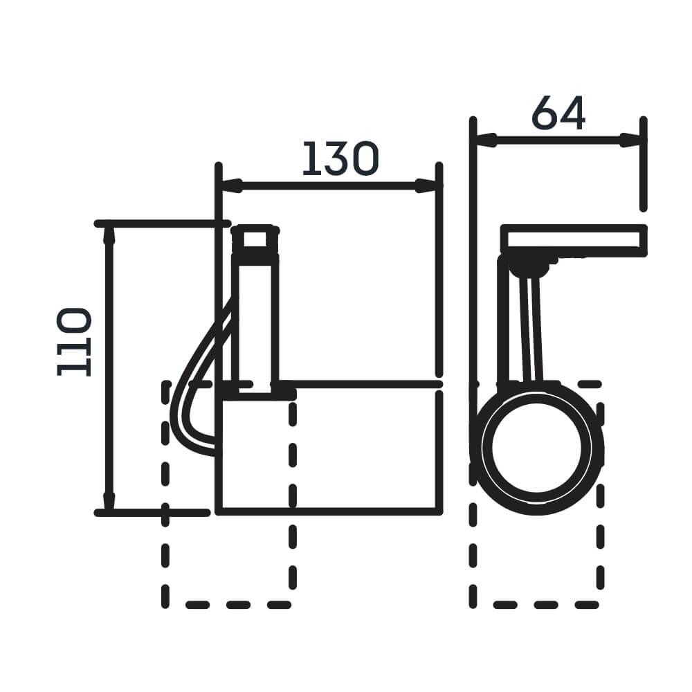 SPOT LISSE II COM ADAPTADOR 1 PAR16 50W 110X64X130MM