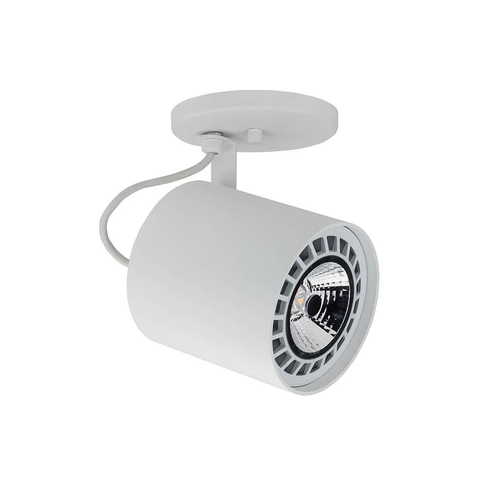 SPOT LISSE II COM CANOPLA 1 AR111 LED 120X135X155MM